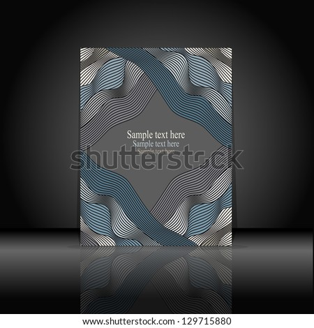 Cover for a book or notebook - stock vector