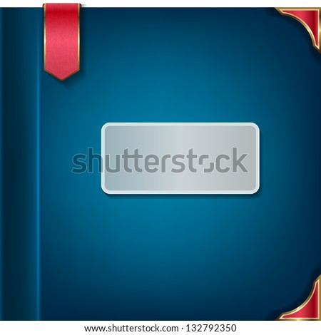 Cover for notebook - stock vector