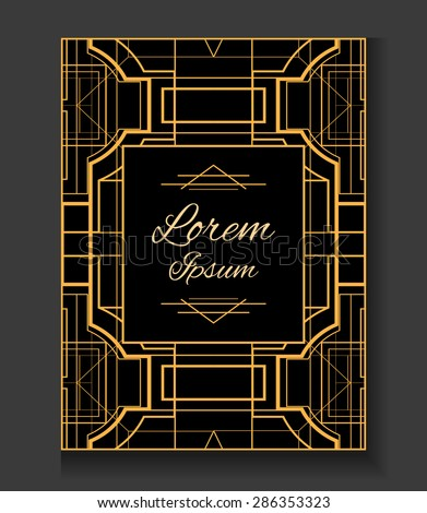 Cover invitation style gatsby vector card stock vector hd royalty invitation in the style gatsby vector card with place for your text stopboris