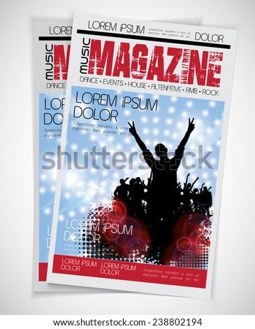 Cover Music Magazine. Vector - stock vector
