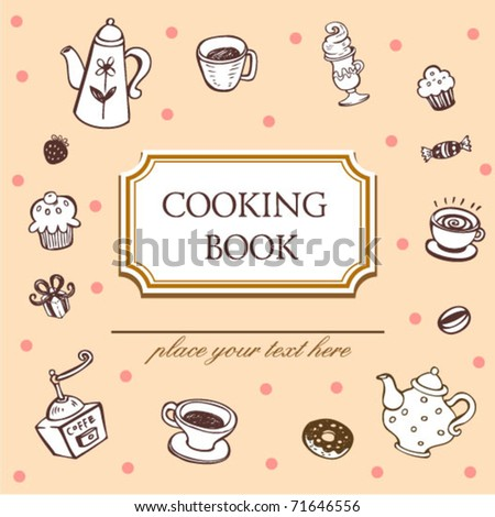 Cover of cooking book - stock vector