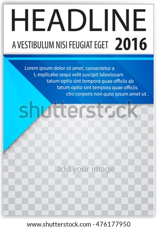 Cover Sheet Cover Note Book Cover Stock Vector 476179588