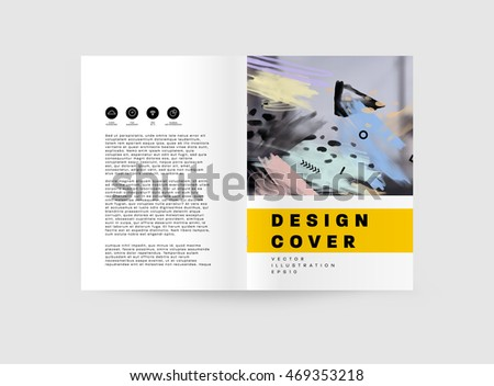 Abstract Composition White Roll Brochure Cover Stock-Vektorgrafik