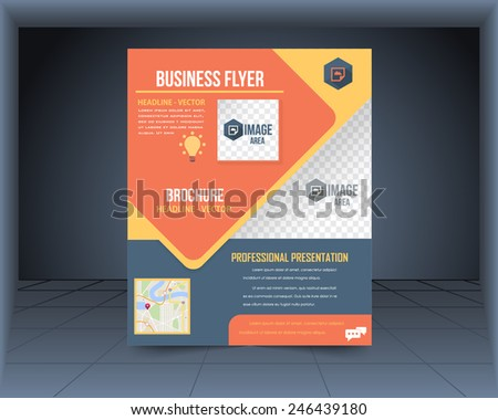 Cover Vector Design Template Set Flyer, Business Brochure, Catalog  - stock vector