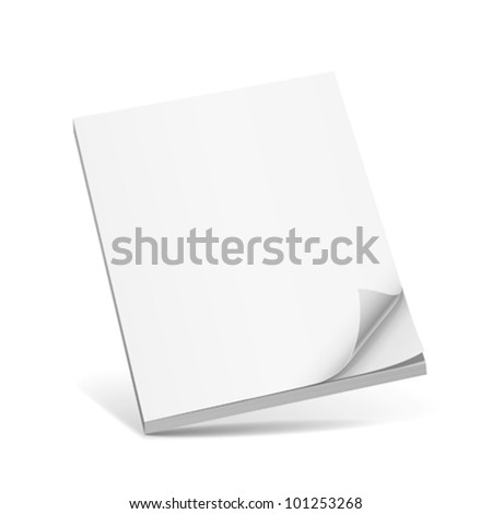 Cover white book with blank. vector illustration - stock vector