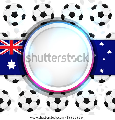 Cover with a soccer ball and the Australian flag, vector