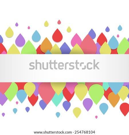 Cover with confetti drops  - stock vector
