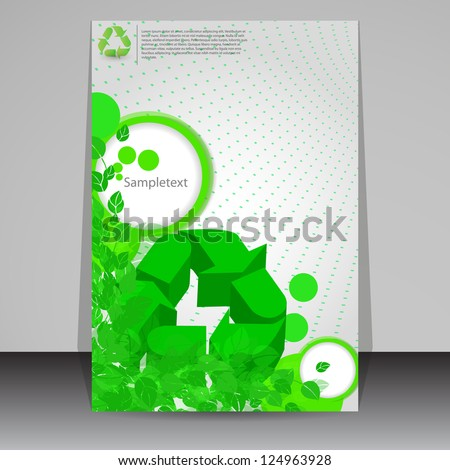 Cover with fresh green leaves - stock vector