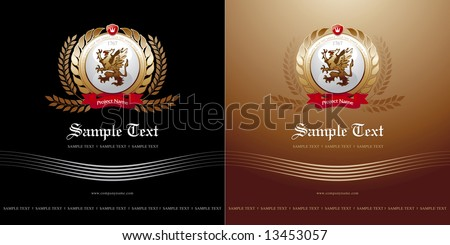 Cover with logo-coat in two variants  (other elements of this corporate style are in my portfolio) - stock vector