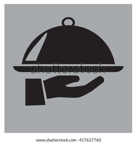 covered plate icon