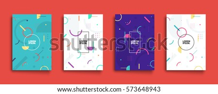 Covers with minimal design. Cool geometric backgrounds for your design. Applicable for Banners, Placards, Posters, Flyers etc. Eps10 vector template.