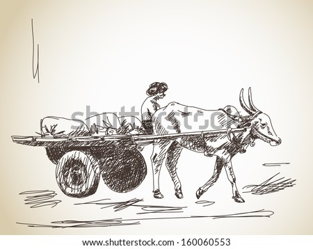 Cow Cart Clipart Bull Cart Stock Images...