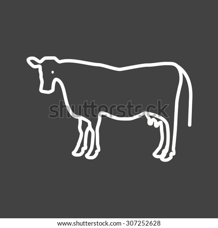 Cow, dairy, milk icon vector image. Can also be used for Animals and Insects. Suitable for mobile apps, web apps and print media.