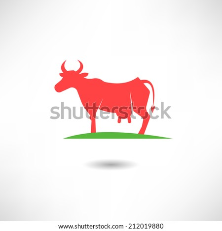 Cow icon - stock vector