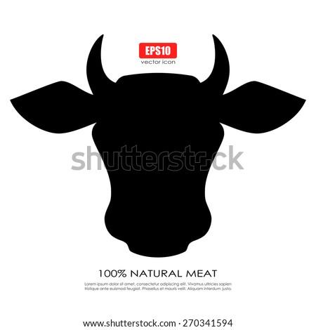 Cow icon - stock vector