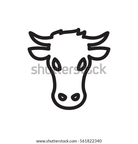 cow icon illustration isolated vector sign symbol