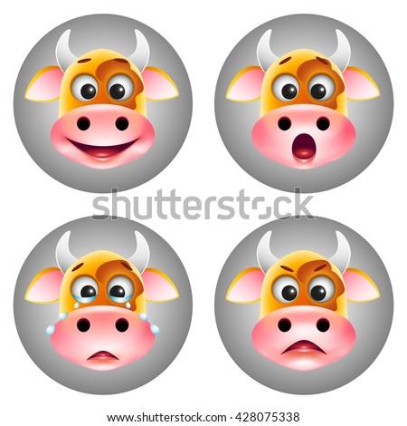Cow icon smile