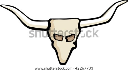cow skull with big horns