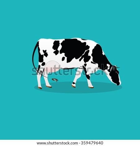 Cow.Vector icon - stock vector