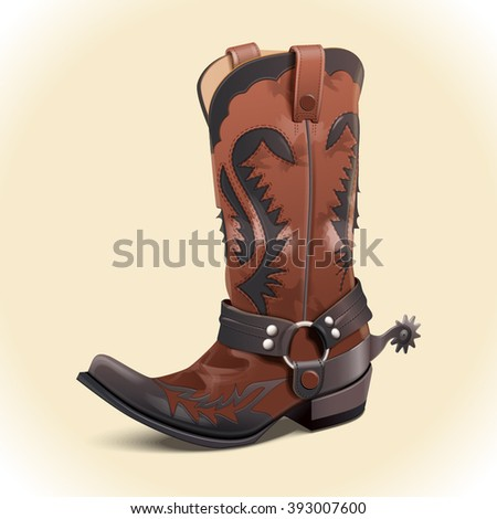 Cowboy boots vector illustration - stock vector