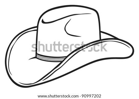cowboy hat - stock vector