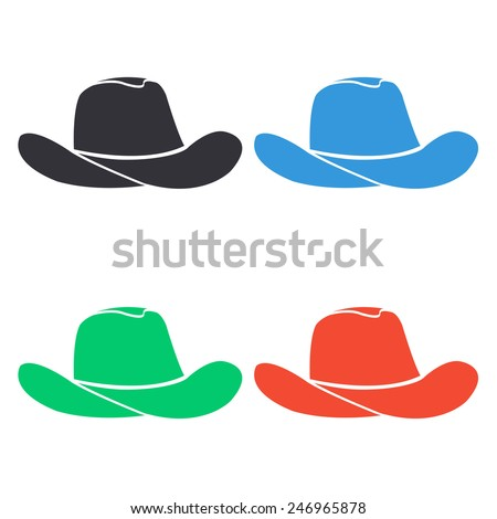 Colored Cowboy Hats Cowboy Hat Icon Colored