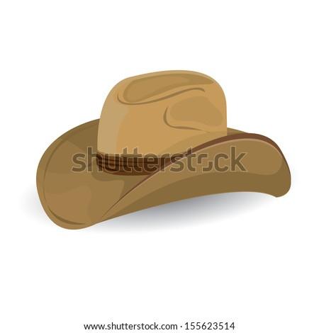 cowboy hat. vector illustration. - stock vector