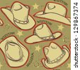 cowboy hats seamless pattern for western background.Vector illustration - stock vector