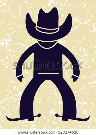 Cowboy icon. vector illustration - stock vector