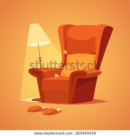 Cozy home stuff. Isolated object \ background. - stock vector
