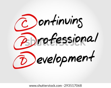 CPD - Continuing Professional Development, acronym business concept - stock vector
