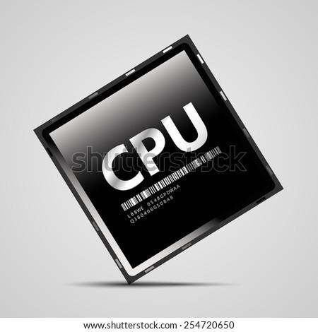 CPU   EPS10 Vector - stock vector