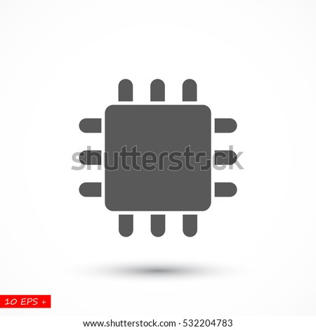 semiconductor icon stock images royalty images vectors cpu icon