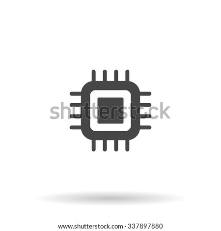 CPU. Icon Vector - stock vector