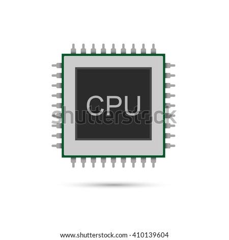 Cpu icon. Vector illustration - stock vector