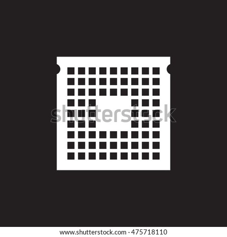 CPU icon vector, processor solid logo illustration, pictogram isolated on black