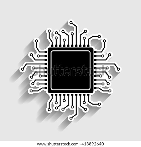 CPU Microprocessor - stock vector