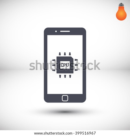 cpu phone vector icon