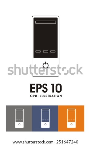 CPU simple illustration - stock vector