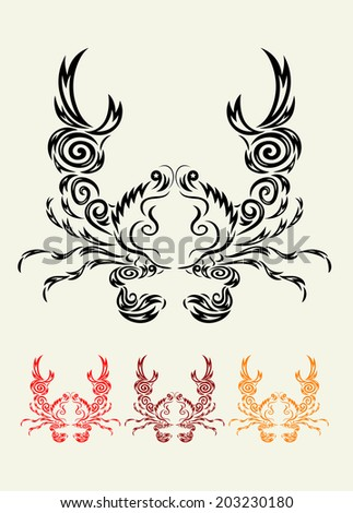 Crab. Art vector decoration, easy to use.
