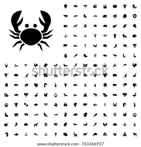 Crab icon illustration isolated vector sign symbol. animals icon set for web and mobile.