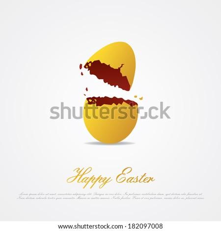Cracked Easter Cracked Easter Egg Isolated
