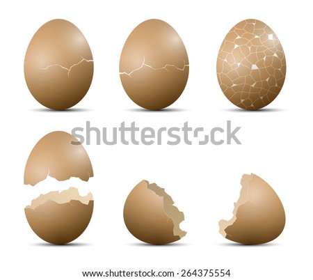 how to draw a cracked egg