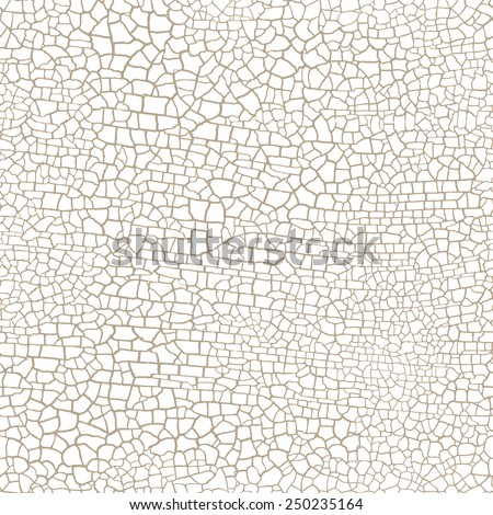 cracked seamless pattern vector texture on white background  - stock vector
