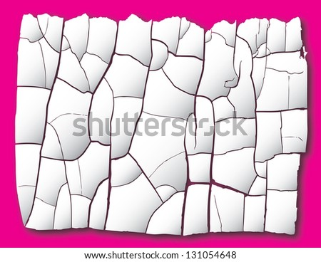 cracked vector background - stock vector