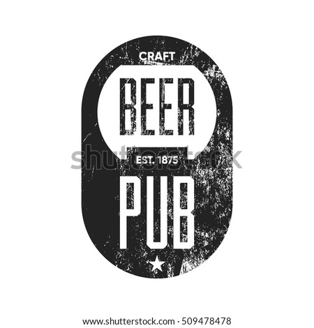 Premium quality color beer infographic on stock vector for Craft beer logo design