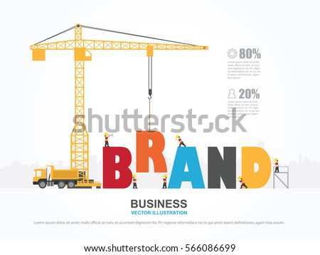 Crane Brand Building Infographic Template Vector Stock Vector HD ...