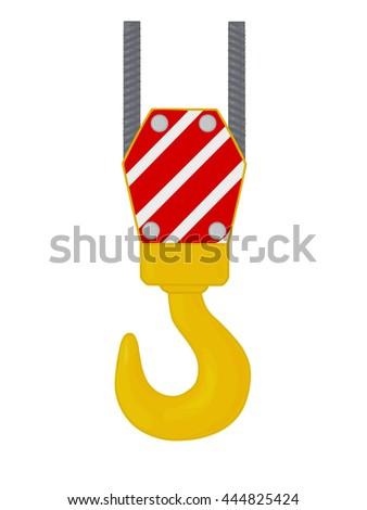Crane hook.  - stock vector