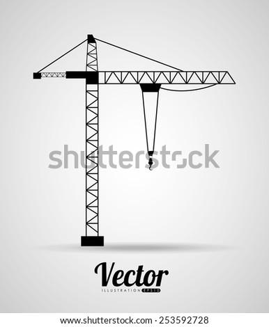 crane icon design, vector illustration eps10 graphic  - stock vector