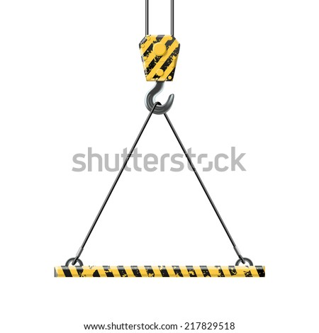 crane lifts the platform - stock vector